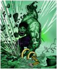 Hulk smashes Loki base.
