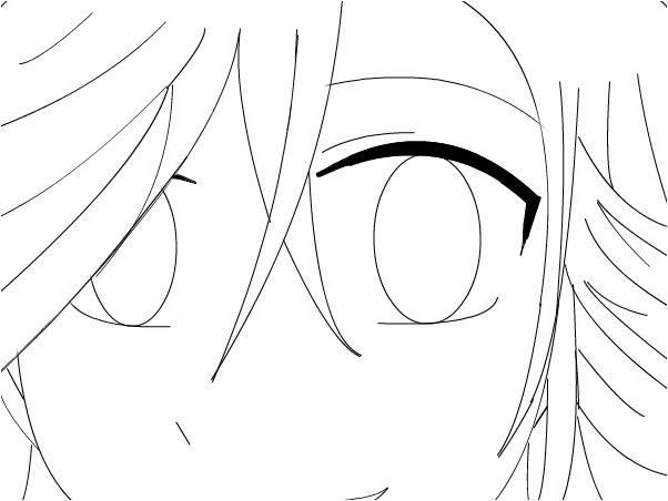 Anime Girl Lineart XD