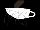 Broken tea cup