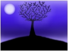 moonlit tree...