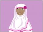 white flower hijab