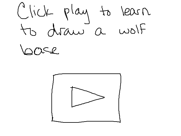 How to draw a wolf base ;)