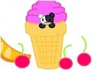 Panda in Ice cream