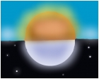 Sun and moon collide
