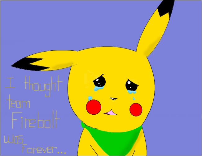 Saying goodbye. Chase the pikachu