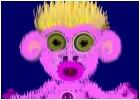 Button Monkey Toy