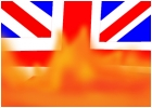 britain flag on fire