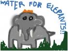An elehpant which I drawded.