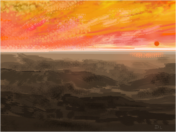 Salt Flats Sunset Viewed from the Mountains