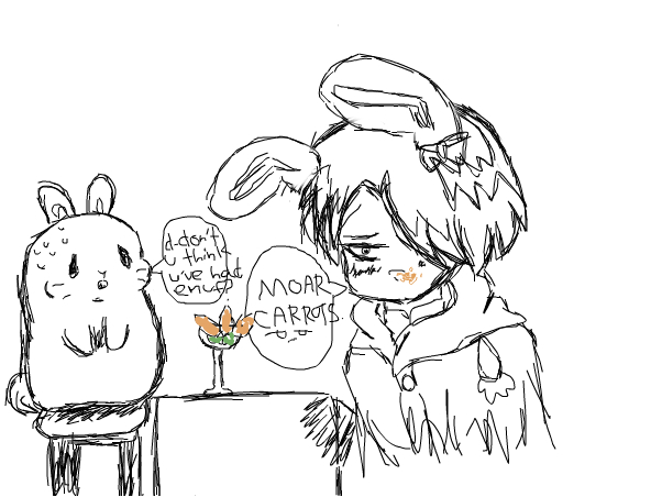 emo bunny Levi wants moar