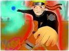Naruto using Rasenganshuriken