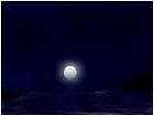 Moon light at sea