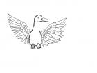uncolored duck