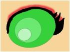 Female Blood-elf eye