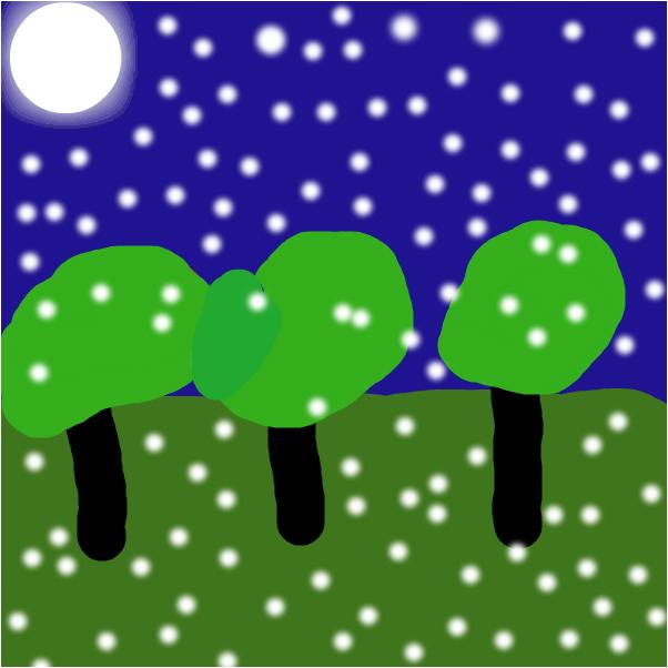 Snow at night (Christmas eve)