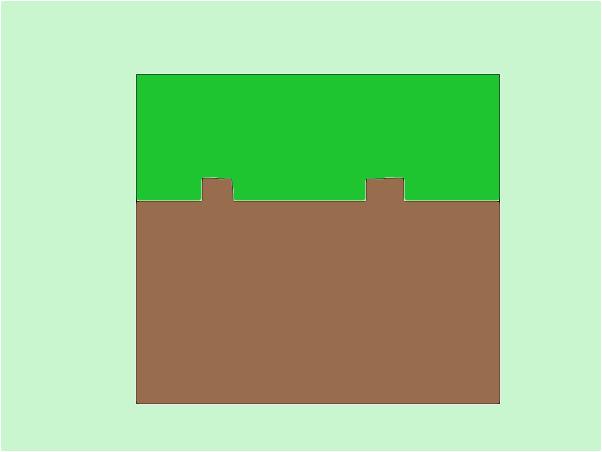 Блок травы