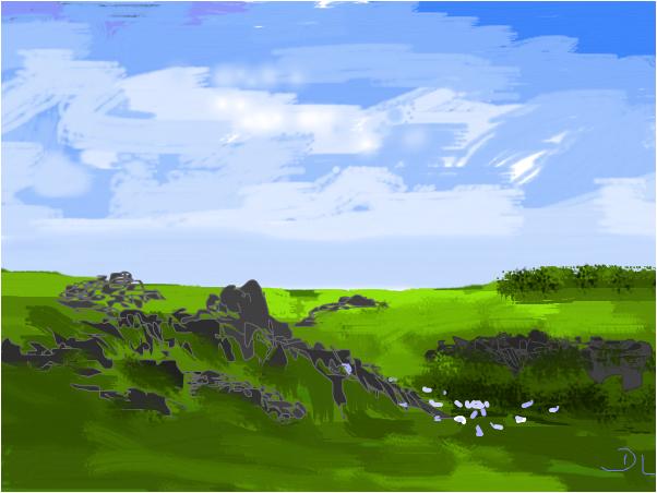 Sheep country Scotland