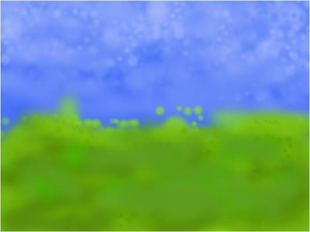 1мой рисунок небо и земля