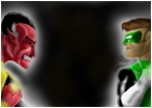 Green Lantern V.S. Sinestro!